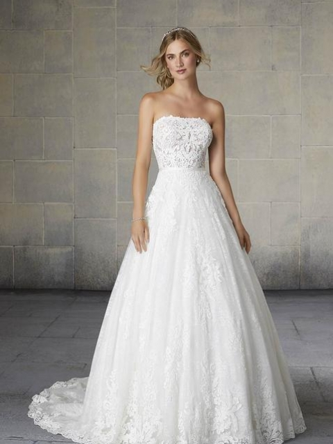 2132 Morilee lace aline ballgown