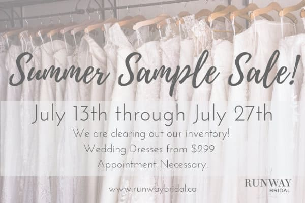 Summer Sample Wedding dress sale
